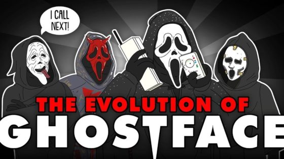 Animated Ghostface Banner 560x315 - Ghostface Gets His Own EVOLUTION Video from Tell It Animated