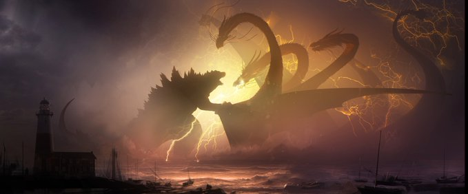 Godzilla 1 - Michael Dougherty Drops a Gaggle of Concept Art Images from GODZILLA: KING OF THE MONSTERS