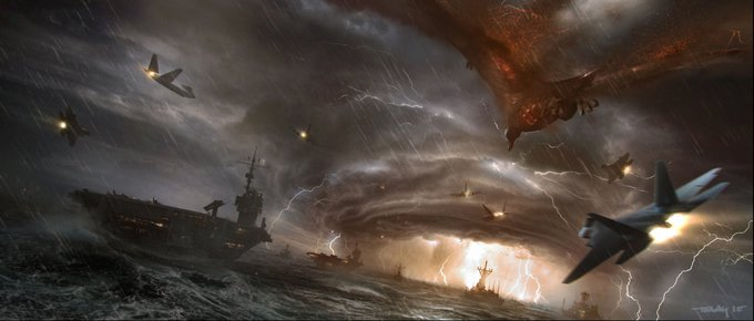 Godzilla 9 - Michael Dougherty Drops a Gaggle of Concept Art Images from GODZILLA: KING OF THE MONSTERS