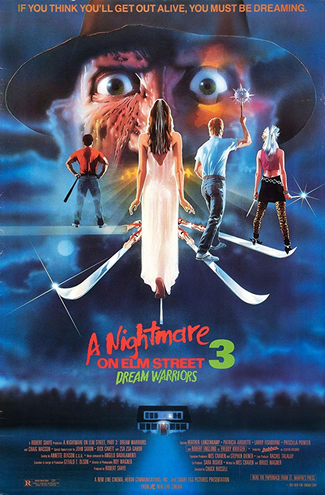 Nightmare on Elm Street 3 Poster - Horror History: A NIGHTMARE ON ELM STREET 3: DREAM WARRIORS Was Released on This Day in 1987