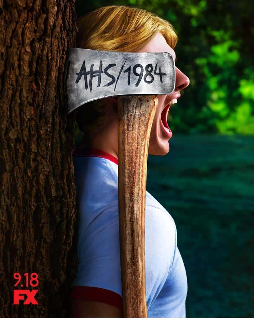 ahs 1984 novo pôster - Another Day, Another Killer Poster para AMERICAN HORROR STORY: 1984