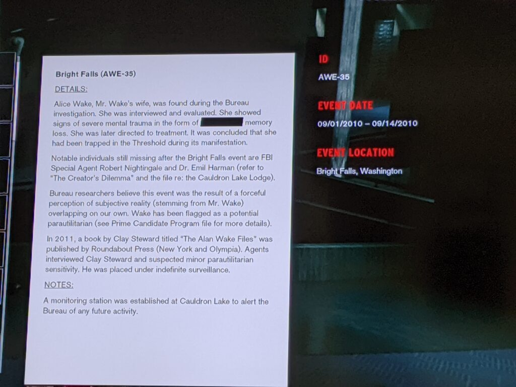 controlalanwake 1 1024x768 - Confirmed! Remedy's CONTROL Lives In The Same Universe As ALAN WAKE