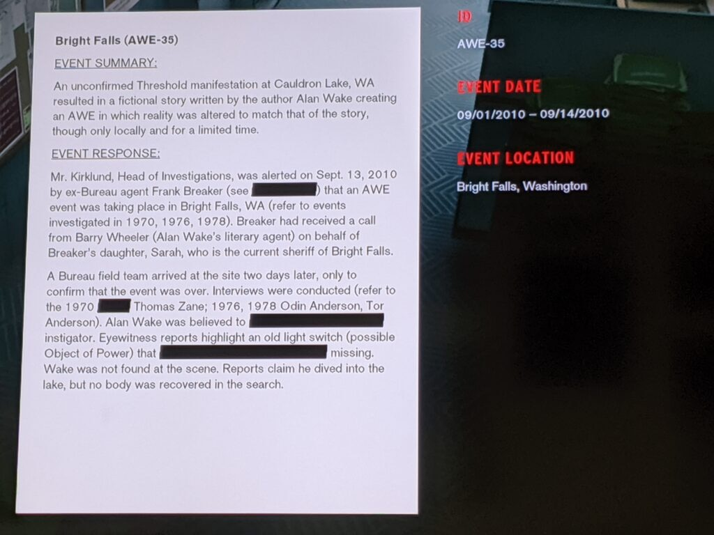controlalanwake 2 1024x768 - Confirmed! Remedy's CONTROL Lives In The Same Universe As ALAN WAKE
