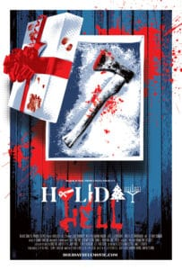 holidayhellposter 203x300 - RE-ANIMATOR's Jeffrey Combs Spins Spooky Tales In HOLIDAY HELL