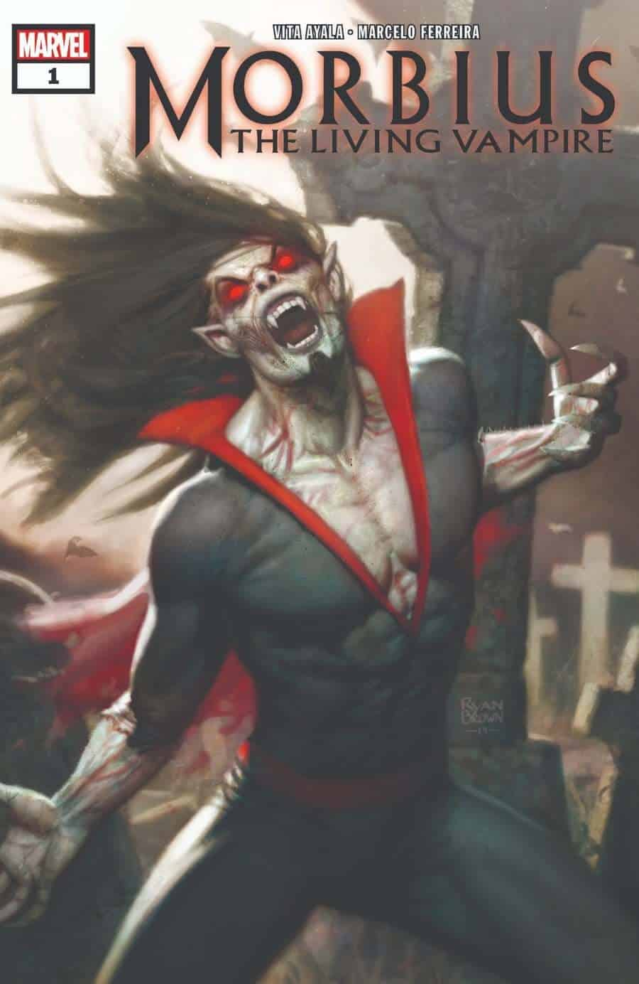 morbius the living vampire marvel comic cover 1 - New MORBIUS THE LIVING VAMPIRE Comic Series Announced By Marvel