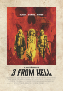 three from hell poster august 2019 209x300 - Check Out Captain Spaulding's Jailhouse Interview in Latest THREE FROM HELL Clip