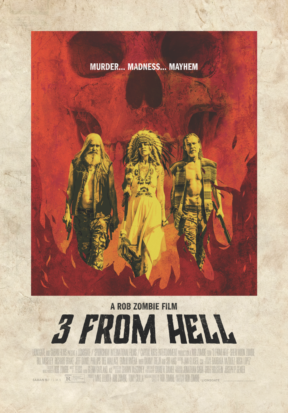 three from hell poster august 2019 - Check Out the Latest Grindhouse Style Poster for Rob Zombie's 3 FROM HELL