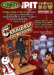 Cannibal the Musical 215x300 - Special Screening of SOUTH PARK Creators Trey Parker & Matt Stone's CANNIBAL! THE MUSICAL
