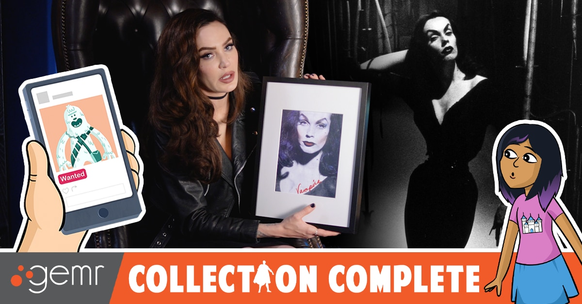 DreadCentral 1200x628 MicVampira - Blonde Bombshell to Goth Icon: Micheline Pitt Talks Collecting Vampira in Latest COLLECTION COMPLETE