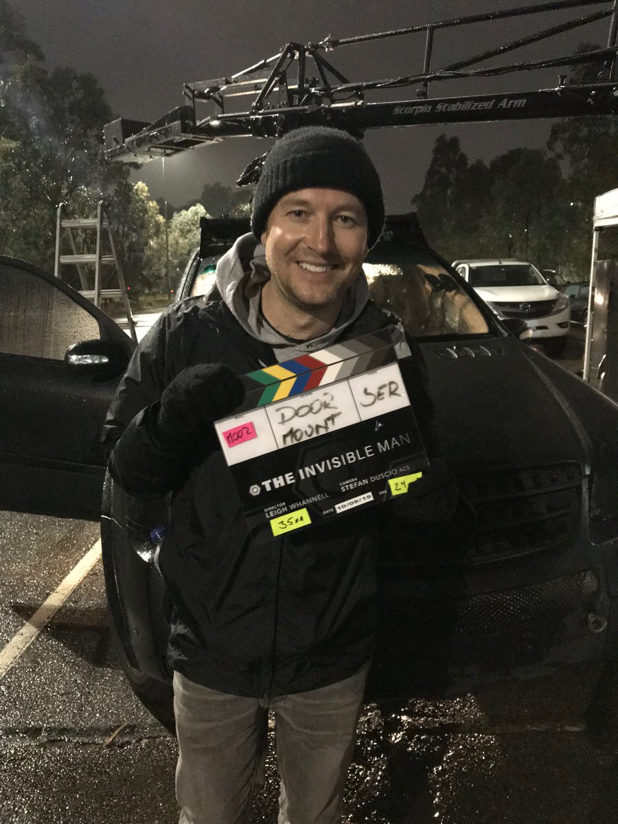 Leigh Whannell - That's a Wrap! Blumhouse's INVISIBLE MAN Remake Has Finished Shooting