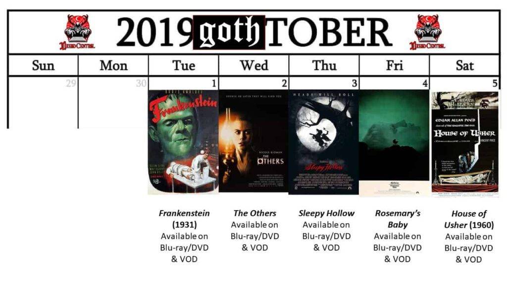 October 2019 Week 1 1024x576 - GOTH-TOBER: A Gothic-Themed #MonthOfDread