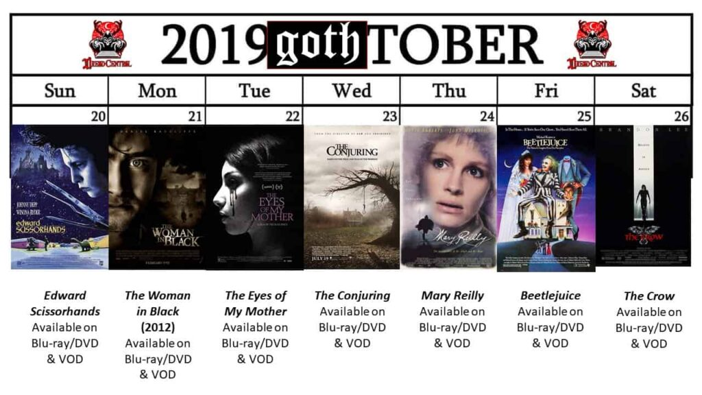 October 2019 Week 4 1024x576 - GOTH-TOBER: A Gothic-Themed #MonthOfDread