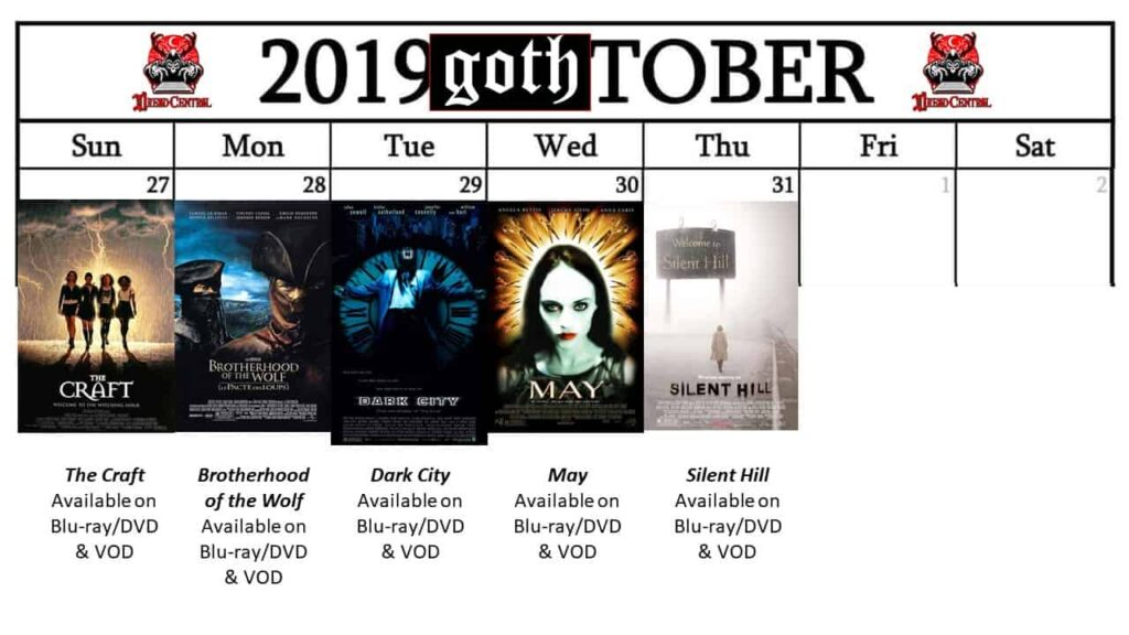 October 2019 Week 5 1024x576 - GOTH-TOBER: A Gothic-Themed #MonthOfDread