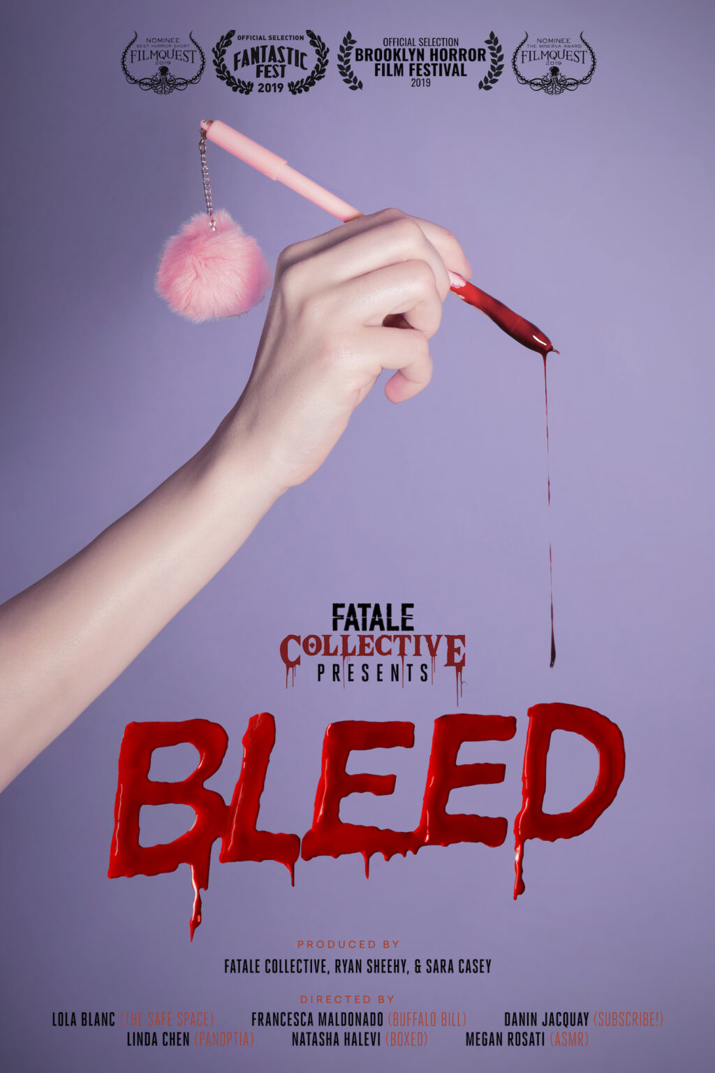 bleed ASMR 1024x1536 - Fantastic Fest 2019 Exclusive: Character Posters For Shorts Anthology BLEED