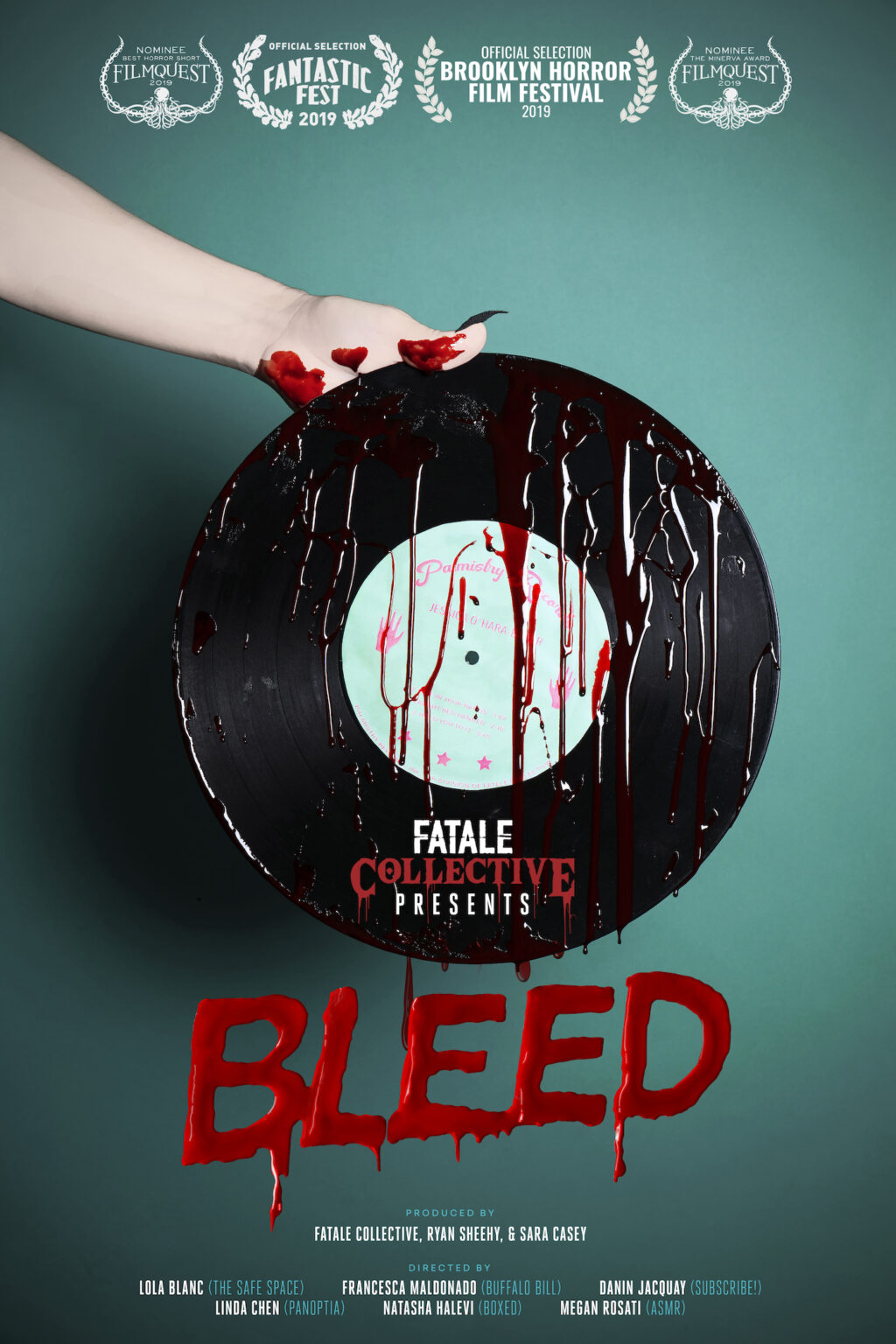 bleed Boxed 1024x1536 - Fantastic Fest 2019 Exclusive: Character Posters For Shorts Anthology BLEED
