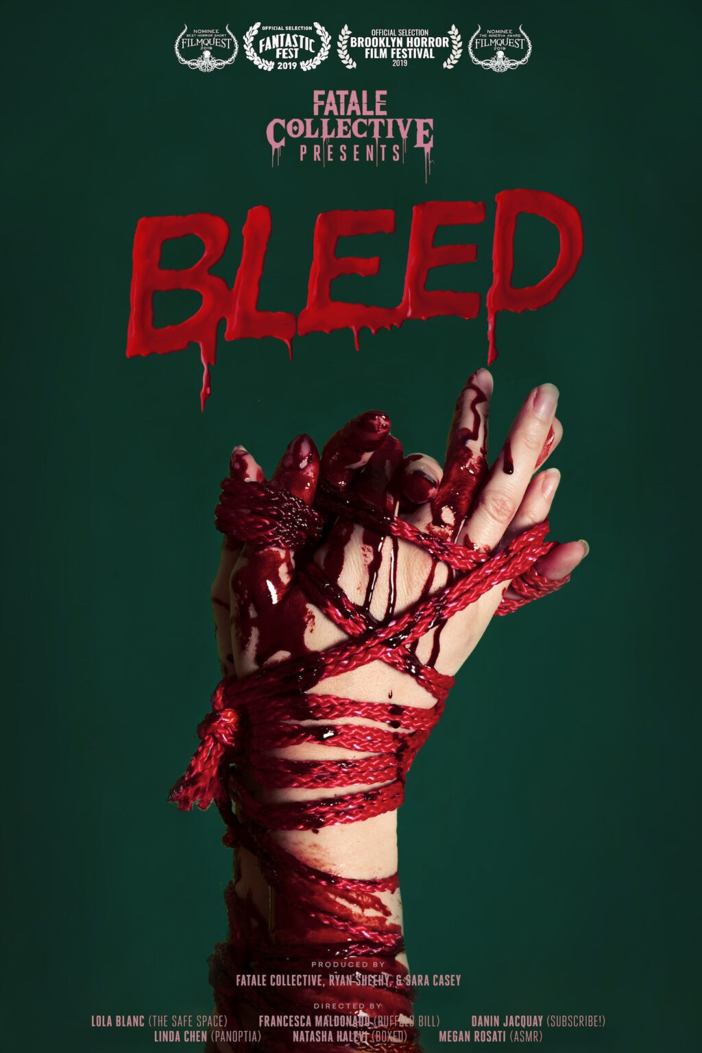 bleed Safe Space 1024x1536 - Fantastic Fest 2019 Exclusive: Character Posters For Shorts Anthology BLEED