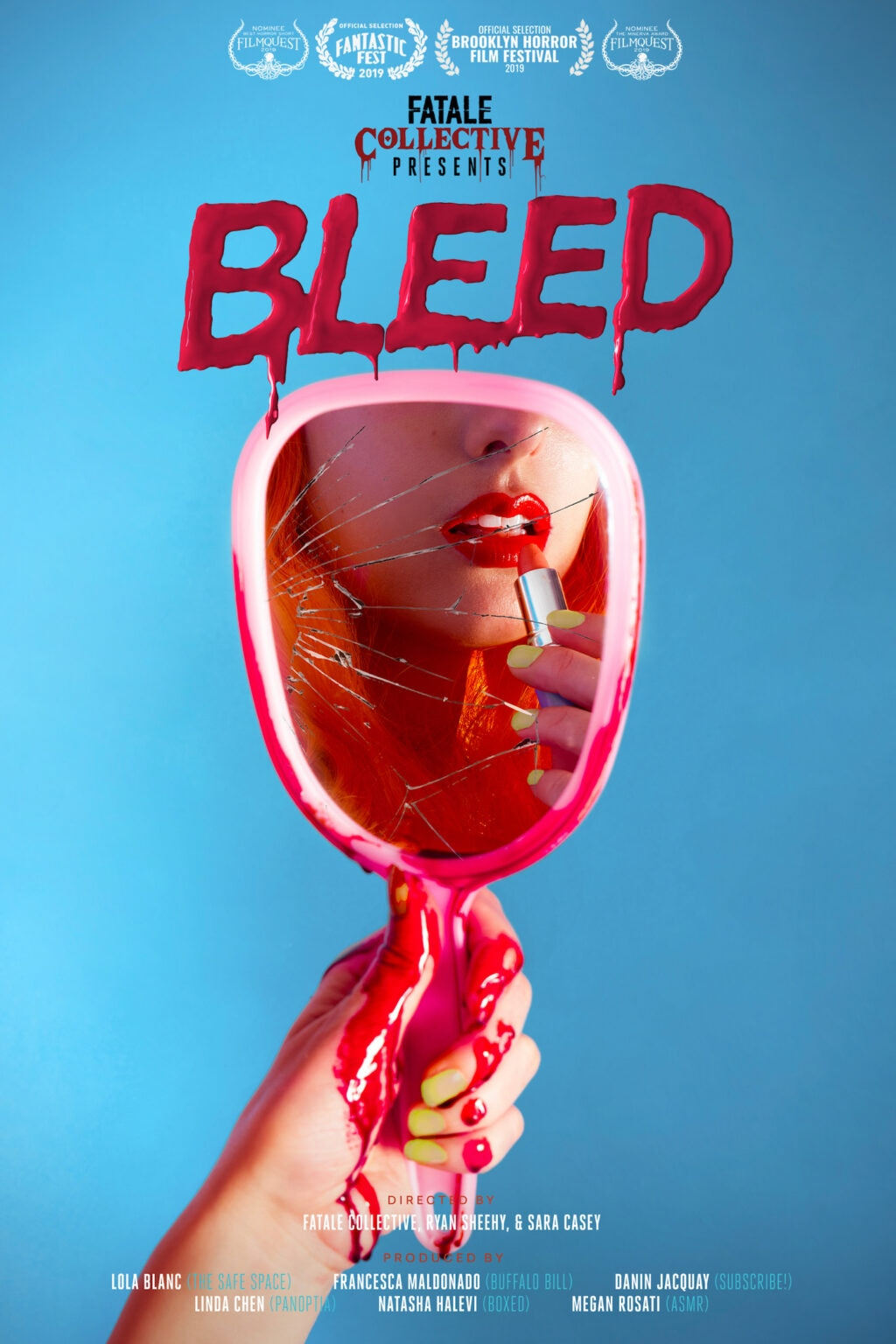 bleed Subscribe 1024x1536 - Fantastic Fest 2019 Exclusive: Character Posters For Shorts Anthology BLEED