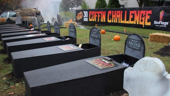 coffin challenge banner 560x315 - Six Flags Dares You to Spend 30 Hours in a Coffin--For Prizes!