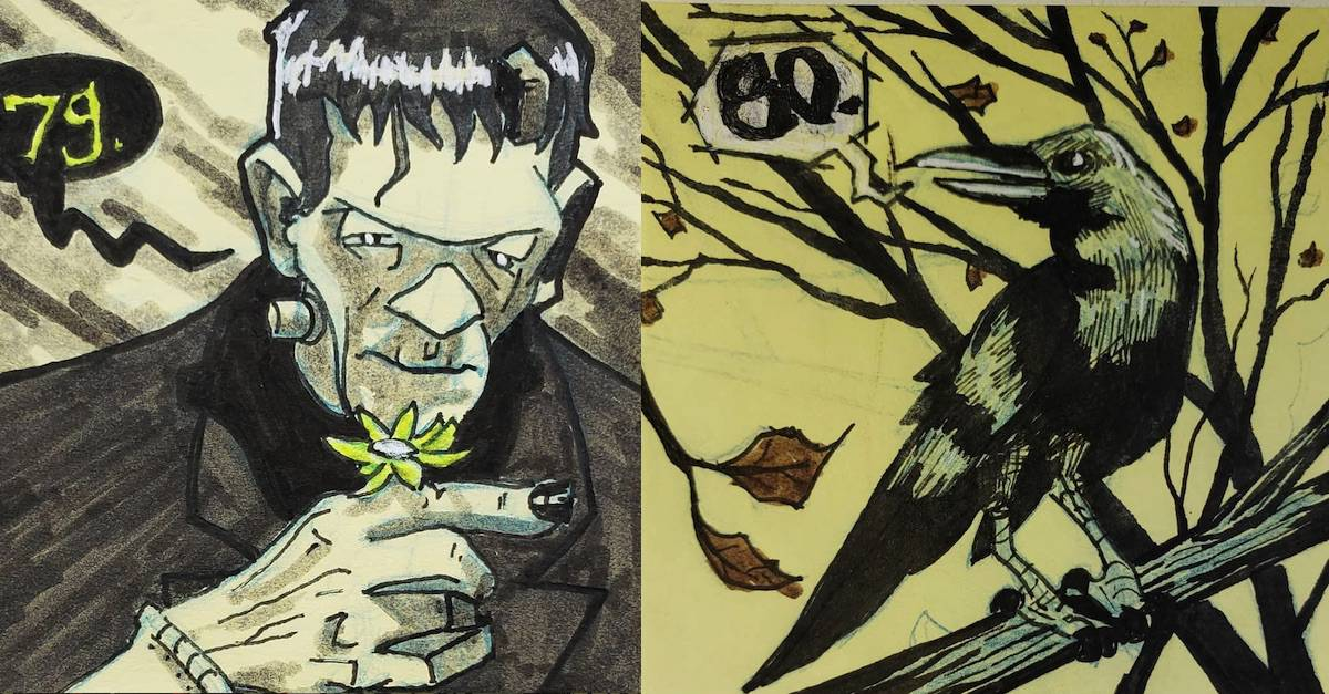 Adorable! Instagram Artist Drawing Horror-Inspired Halloween Countdown - Dread Central