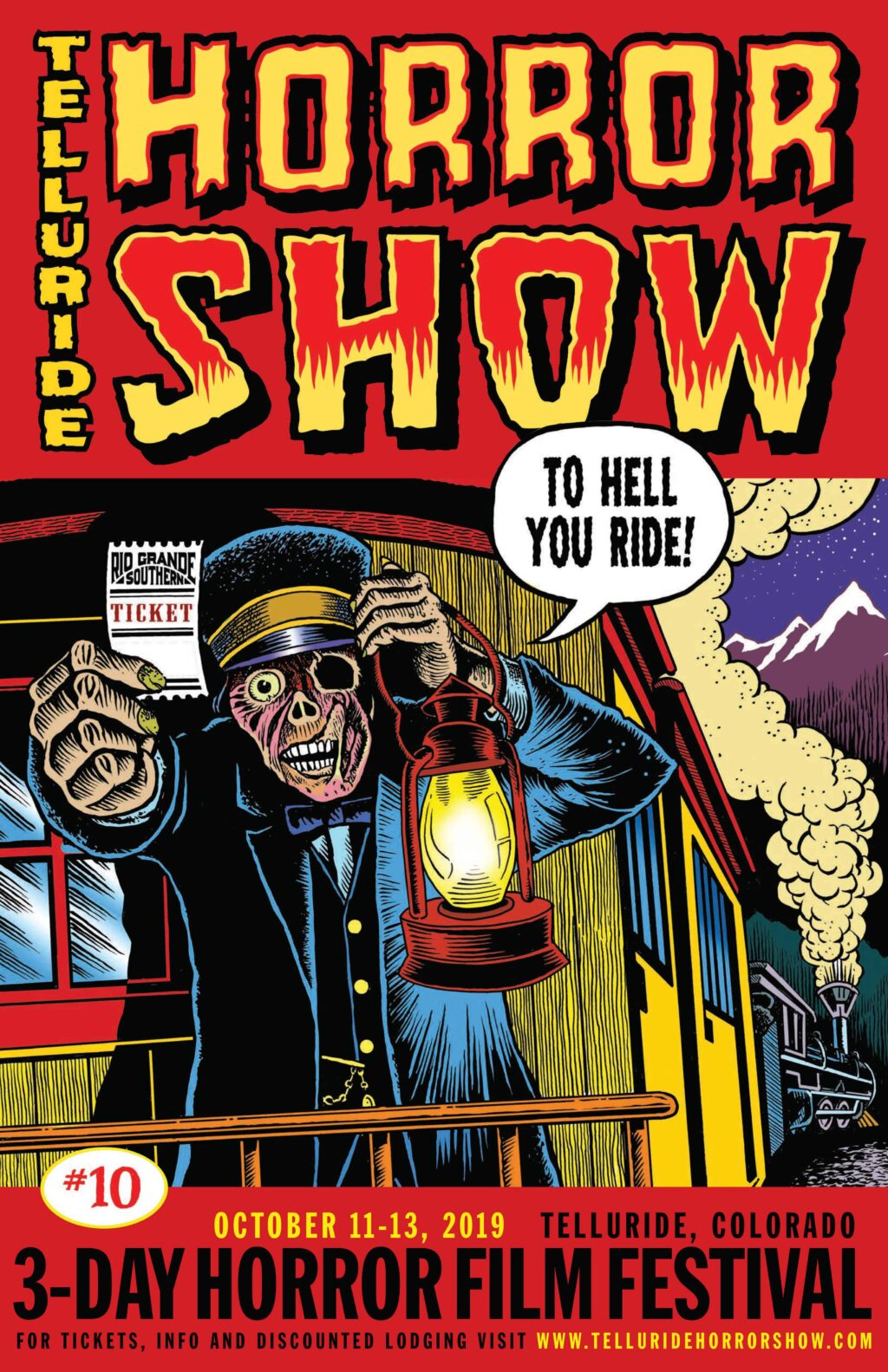 telluridehorrorshow2019poster 1024x1583 - Telluride Horror Show 2019: First Wave Unveils MUTANT BLAST, VFW, TUCKER & DALE VS EVIL Rep Screening, And More