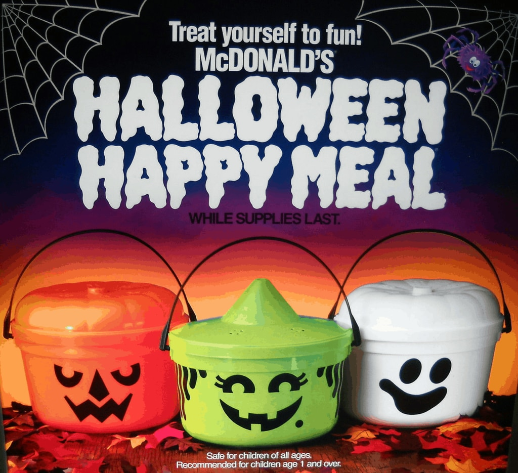 Mcdonalds Happy Meal Toy Halloween 2020 A Brief History of McDonald's Halloween Buckets | Dread Central