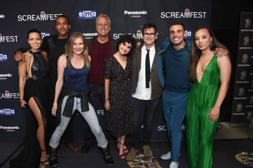 Angelique Rivera Jim Titus. Kym Johnson Patrick Fabian Sarah Yarkin Rodman Flender Jake Cannavale Kristin Daniel 1024x680 - SCREAMFEST L.A. 2019 – Exclusive Opening Night Photos & Interviews with EAT, BRAINS, LOVE Director Rodman Flender & More