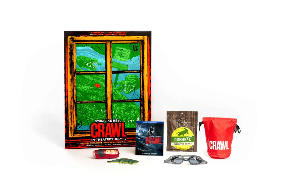 """Crawl PublicityKit FIN 1024x663 - CONTEST: Celebrate CRAWL with a """"Survival Kit"""" Including Blu-ray Signed by Sam Raimi!"""