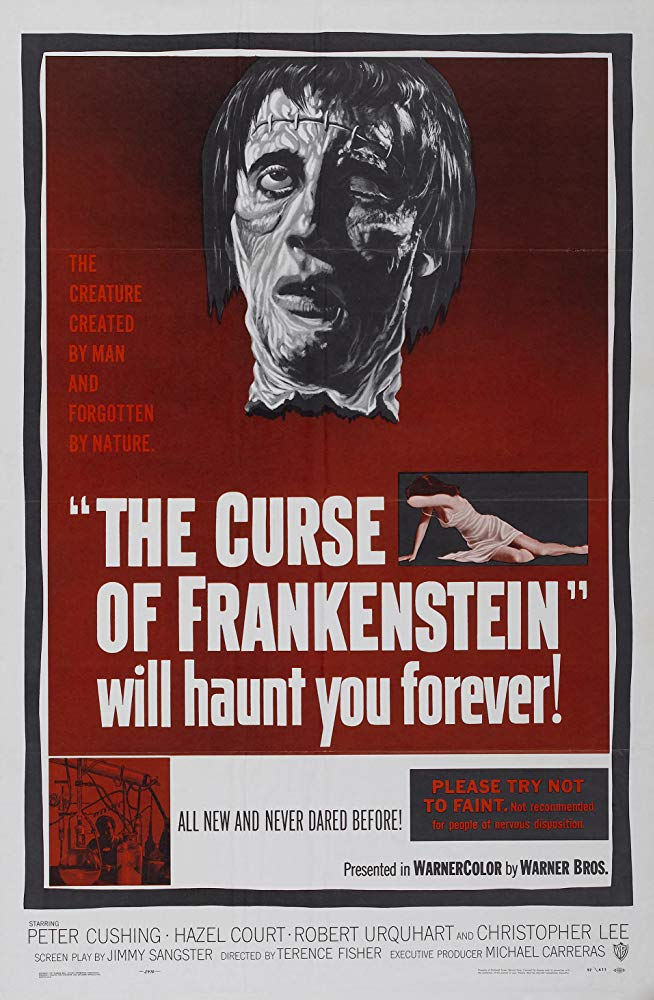 Curse of Frankenstein Poster - John Carpenter Has Some Halloween Movie Recommendations for You