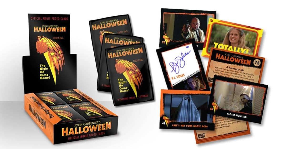 Halloween Trading Cards Banner - Officially Licensed HALLOWEEN Trading Card Available Now for First Time Ever!