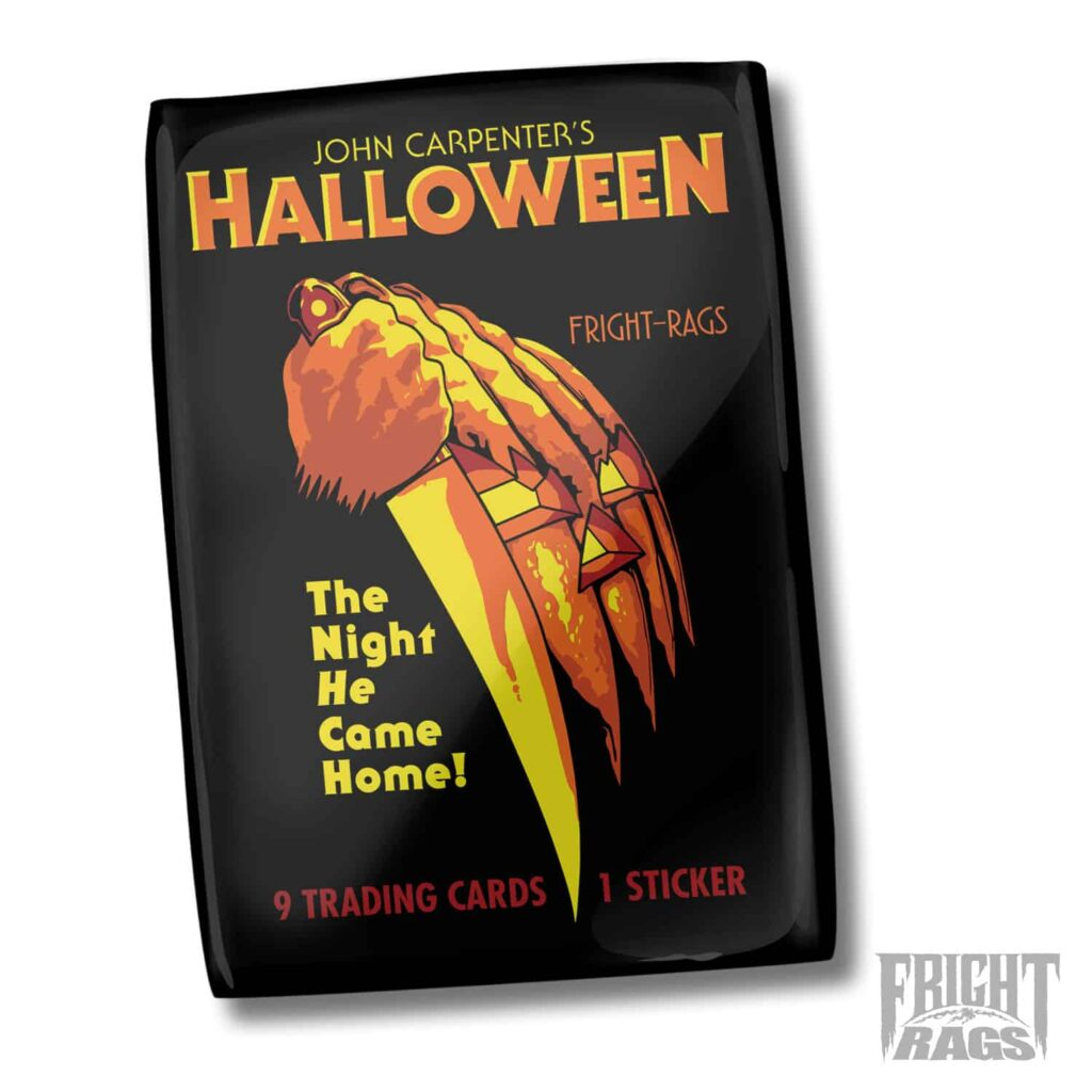 Halloween WaxPack Cover PROOF 1024x1024 - Officially Licensed HALLOWEEN Trading Card Available Now for First Time Ever!