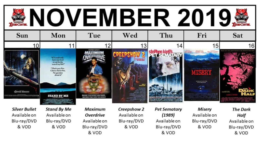 November 2019 Week 3 1024x576 - Nothing But Stephen King Movies in Our Latest #MonthOfDread!