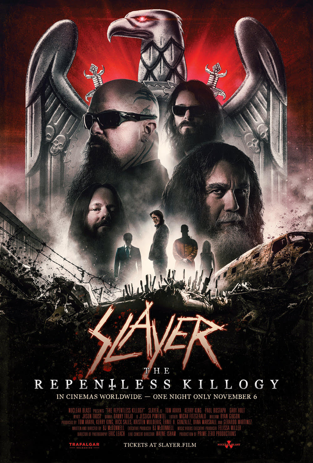 Repentless Killology Poster - Trailer: Parte do filme de terror, Parte do concerto, SLAYER: THE KILLOGY REPENTLESS para a tela 1 Night Only!