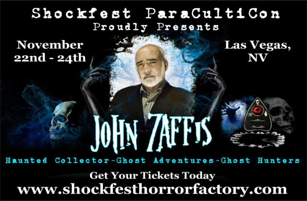 SHOCKFEST John Zaffis5 1024x671 - John Zaffis & George Noory headlining SHOCKFEST FILM FESTIVAL at The Hotel Paranormal