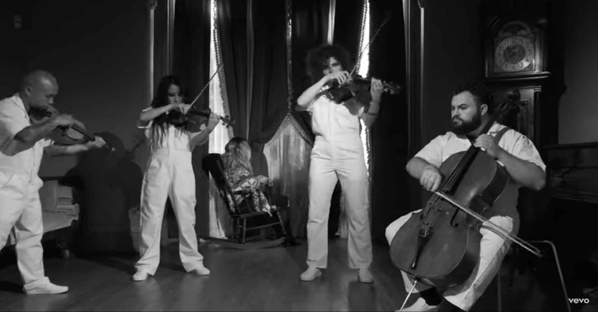 """VSQ - Video: Vitamin String Quartet Perform """"PSYCHO - The Rainstorm"""""""