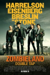 Zombieland DT poster 202x300 - Red Band Trailer para ZOMBIELAND: DOUBLE TAP Inclui (GASP) zumbis