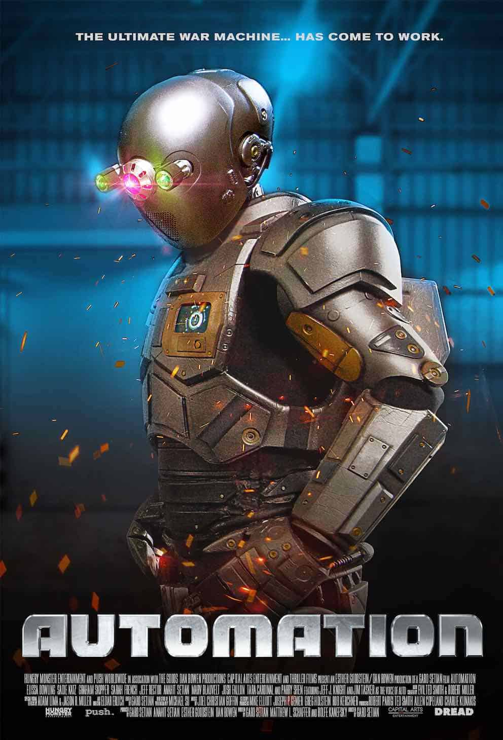 AUTOMATION poster - Trailer: Robotic Techno-Terror AUTOMATION Coming Soon from DREAD
