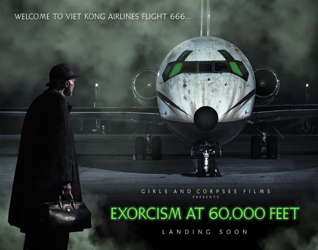 Exorcism at 60000 feet poster 1024x805 - Exclusive Behind-the-Scenes: EXORCISM AT 60,000 FEET
