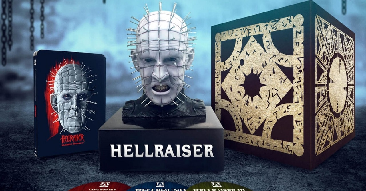 Hellraiser Trilogy Steelbook hd - HELLRAISER Trilogy Steelbook with Pinhead Bust Coming In 2020