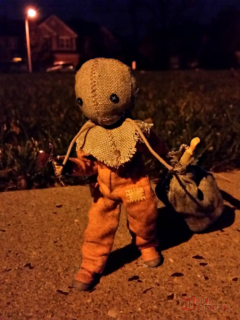 NECA Trick R Treat Sam Clothed Action Figure 002 - TRICK 'R TREAT's Sam Has a Busy Night!