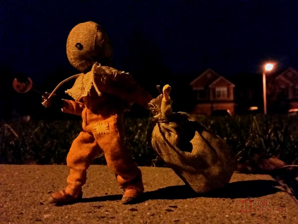 NECA Trick R Treat Sam Clothed Action Figure 003 - TRICK 'R TREAT's Sam Has a Busy Night!