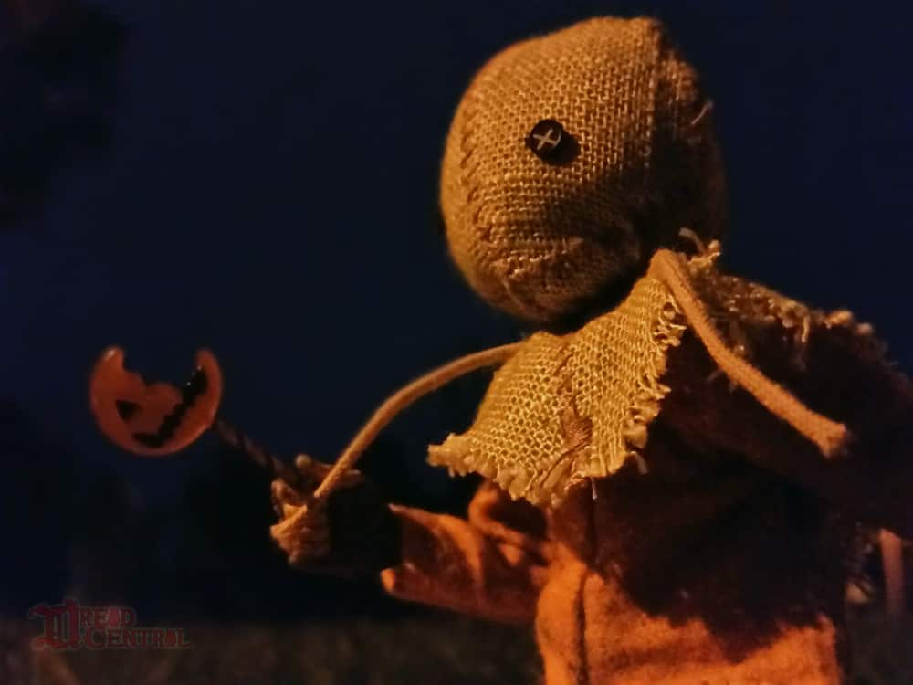NECA Trick R Treat Sam Clothed Action Figure 004 - TRICK 'R TREAT's Sam Has a Busy Night!