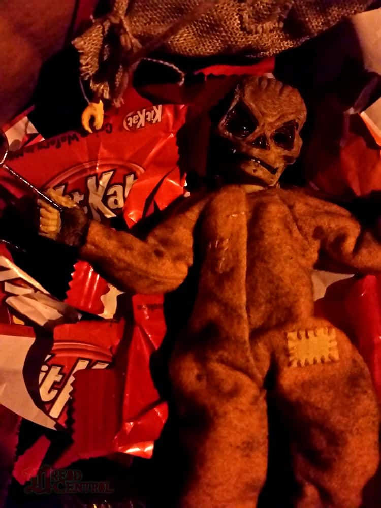NECA Trick R Treat Sam Clothed Action Figure 007 - TRICK 'R TREAT's Sam Has a Busy Night!