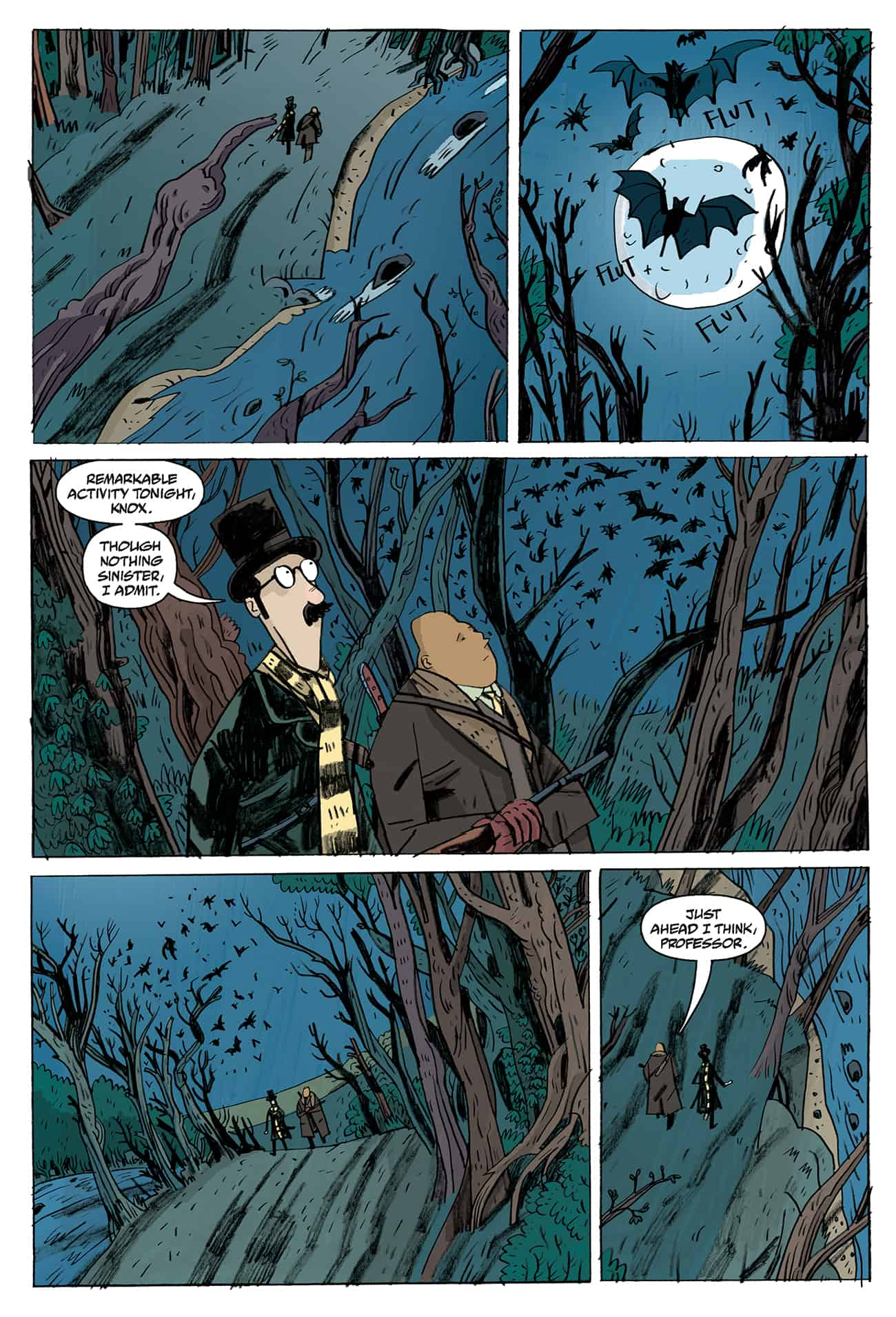 OEWE BLACKWATER PG 04 - Exclusive Preview of OUR ENCOUNTERS WITH EVIL by Mike Mignola & Warwick Johnson-Cadwell