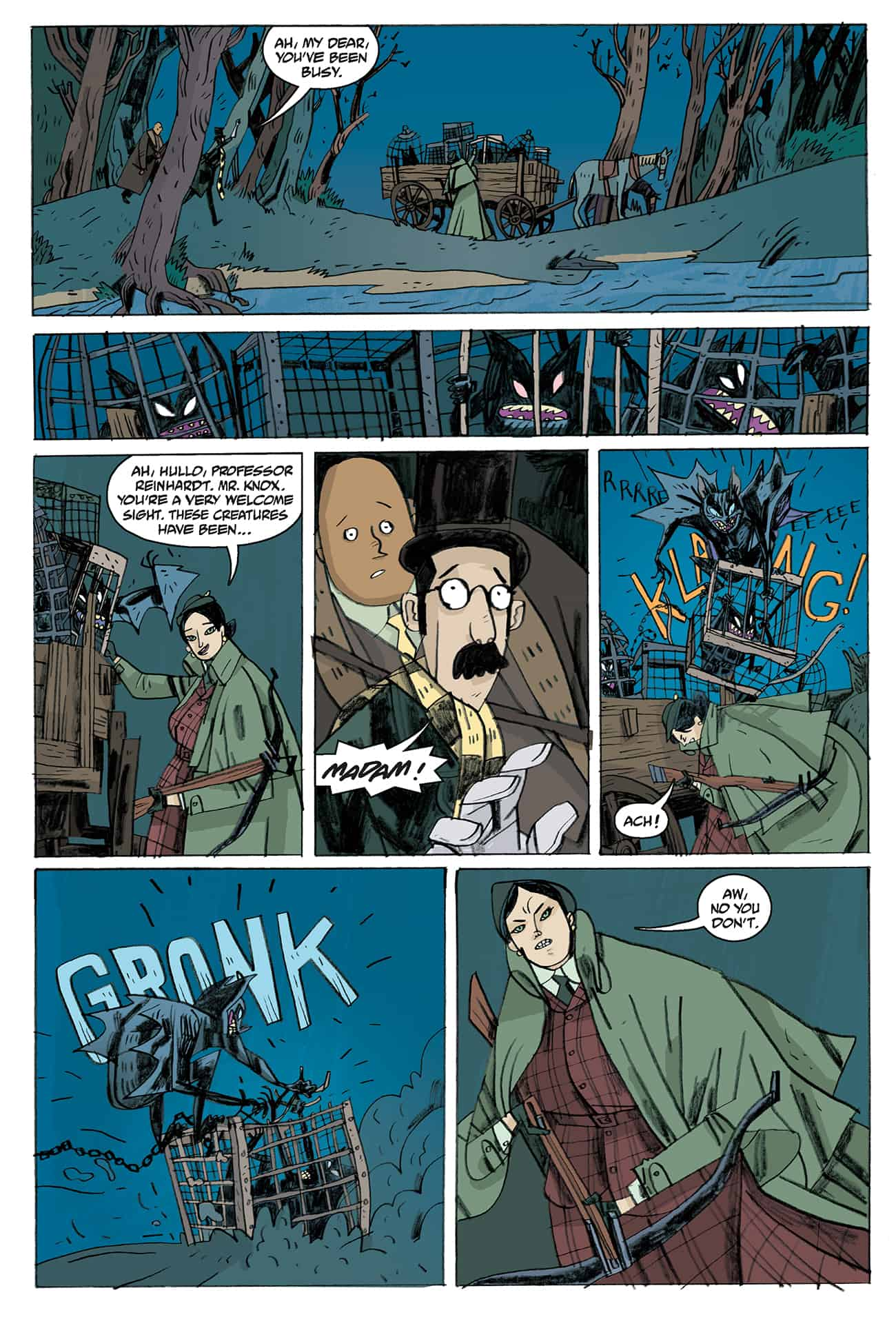 OEWE BLACKWATER PG 05 - Exclusive Preview of OUR ENCOUNTERS WITH EVIL by Mike Mignola & Warwick Johnson-Cadwell