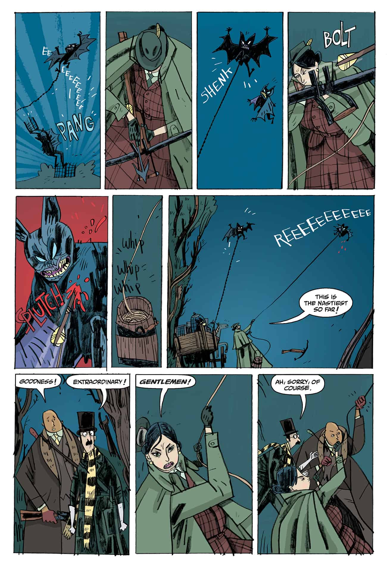 OEWE BLACKWATER PG 06 - Exclusive Preview of OUR ENCOUNTERS WITH EVIL by Mike Mignola & Warwick Johnson-Cadwell