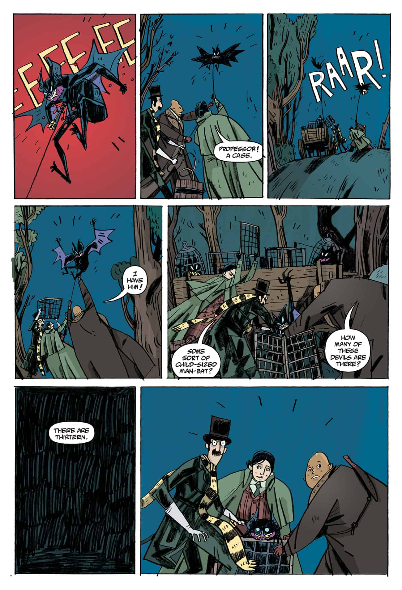 OEWE BLACKWATER PG 07 - Exclusive Preview of OUR ENCOUNTERS WITH EVIL by Mike Mignola & Warwick Johnson-Cadwell