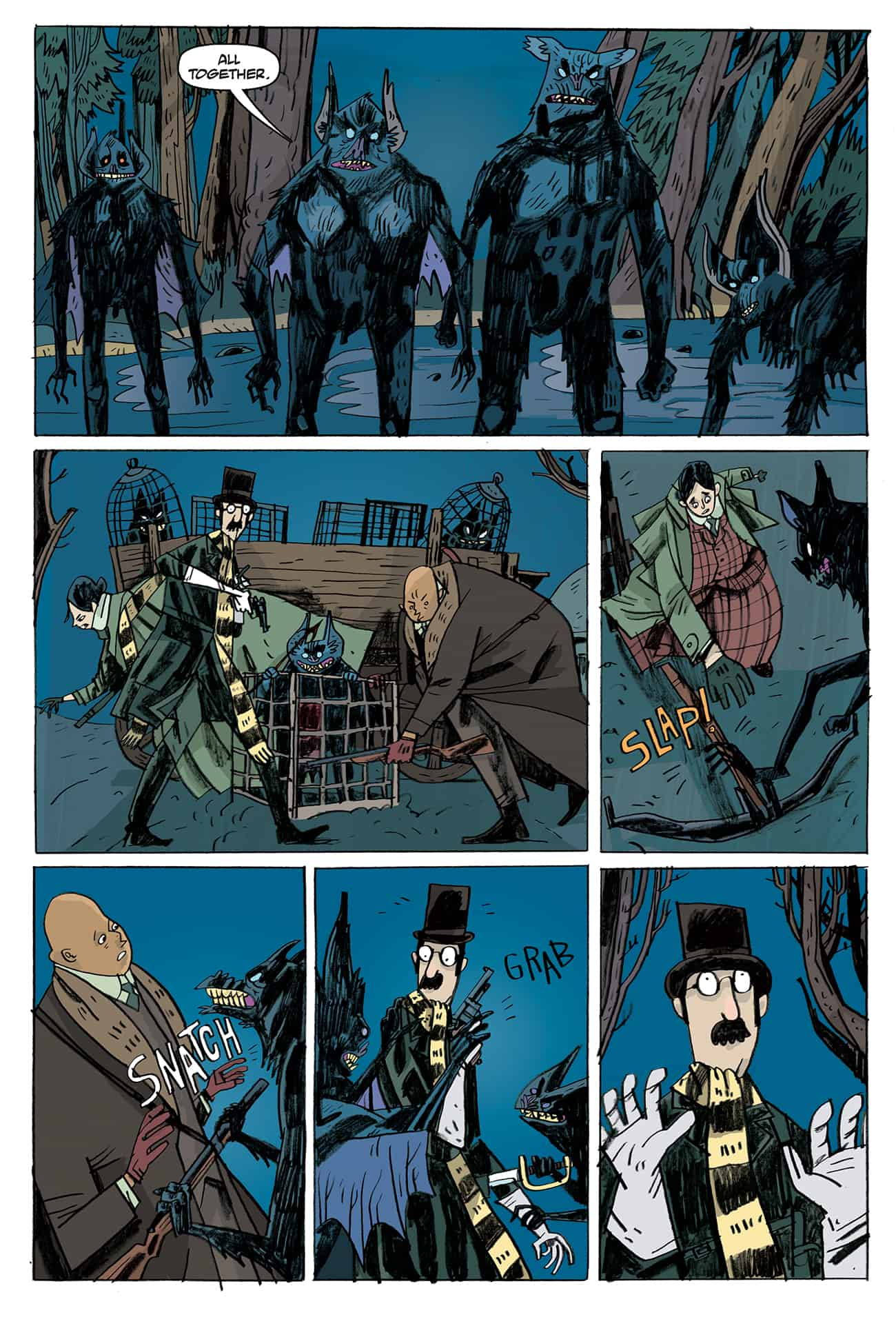 OEWE BLACKWATER PG 08 - Exclusive Preview of OUR ENCOUNTERS WITH EVIL by Mike Mignola & Warwick Johnson-Cadwell
