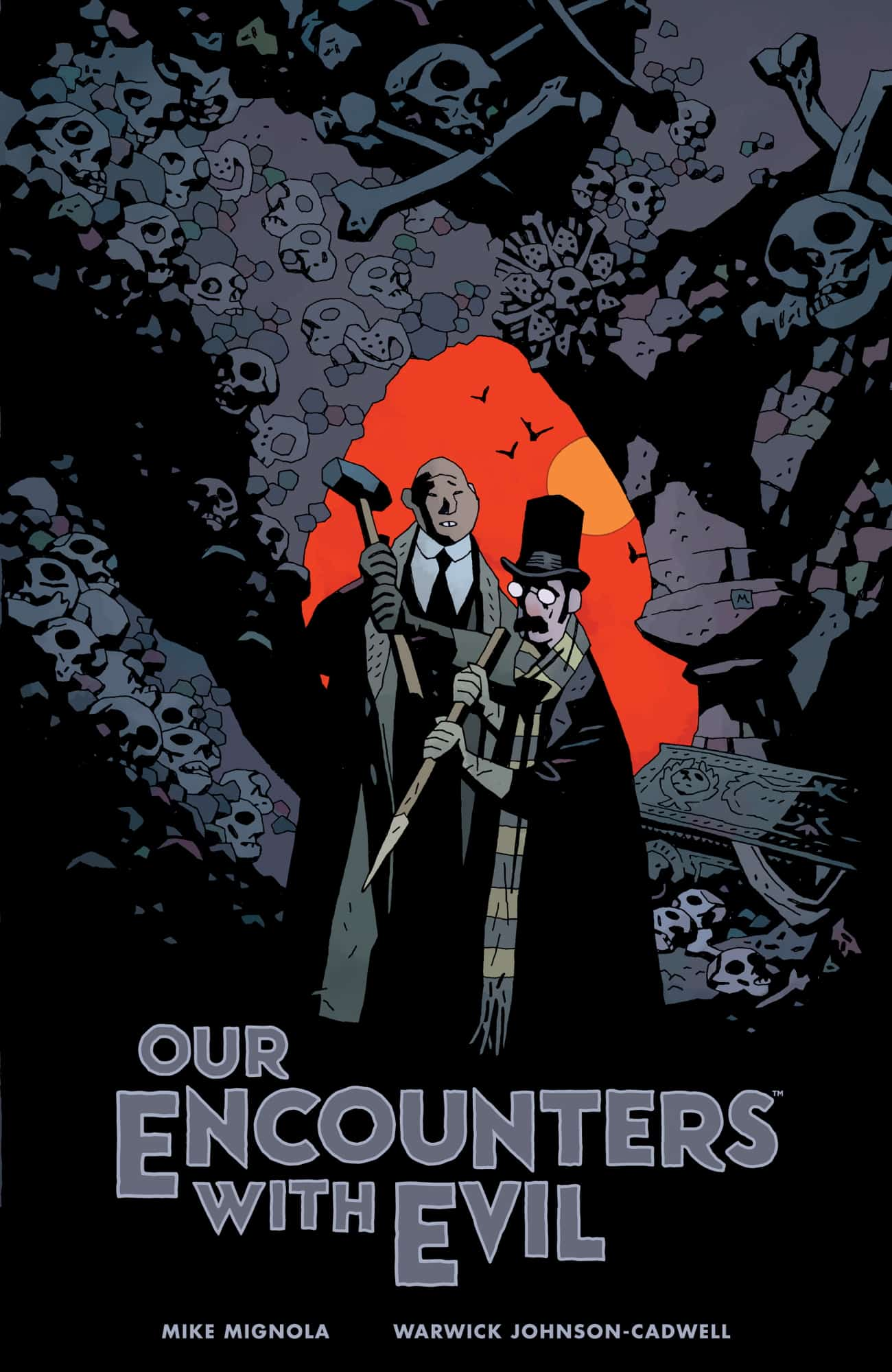 OEWE HC CVR 4X6 - Exclusive Preview of OUR ENCOUNTERS WITH EVIL by Mike Mignola & Warwick Johnson-Cadwell