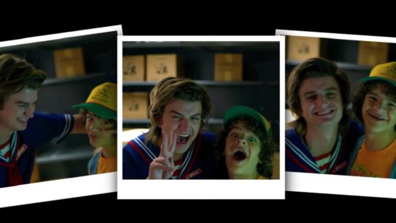 STRANGER THINGS 3 Bloopers 560x315 - Let's Put a Smile On That Face ... with STRANGER THINGS Bloopers