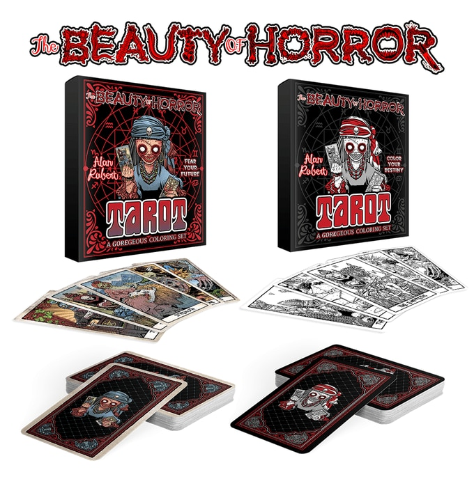 Tarot sets - 1 More Day to Support THE BEAUTY OF HORROR Tarot Card Set